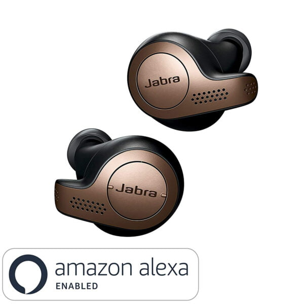 Jabra Elite 65t True Wireless Bluetooth Earbuds with Charging Case and one Touch Amazon Alexa (Copper Black)(Seal Open Only)-0