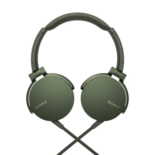 Sony Extra Bass MDR-XB550AP On-Ear Headphones with Mic (Green)-6574