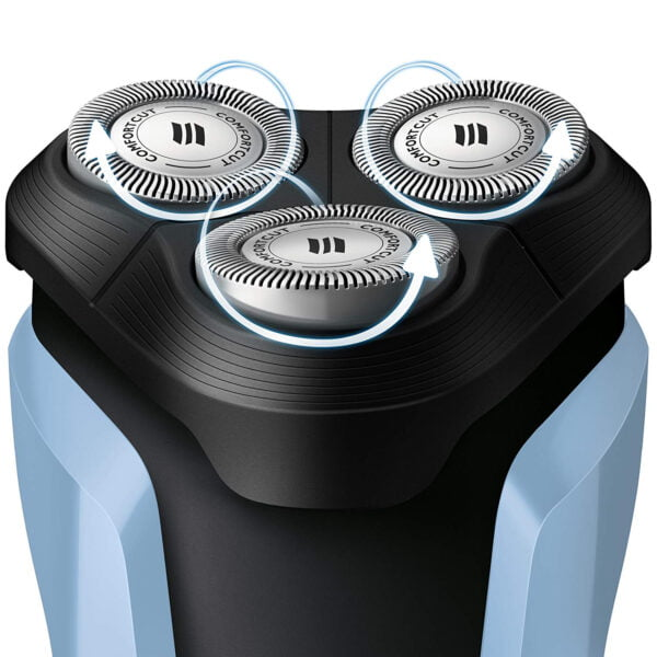Philips S1070/04 Aquatouch Wet and Dry Electric Shaver (Blue and Black)-6856