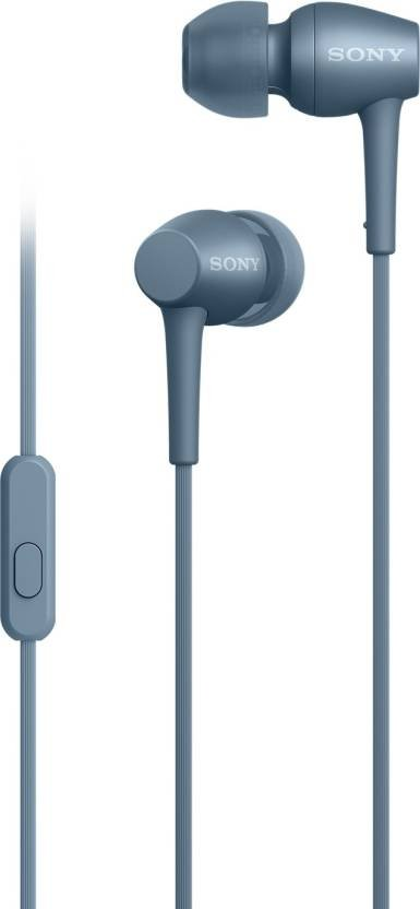 Sony IER-H500A in-Ear Headphones with Mic (Blue)-0