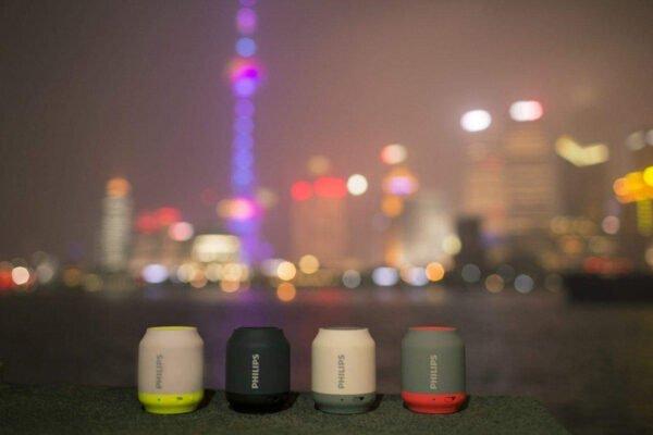 Philips BT50B Portable Wireless Bluetooth Speaker, Grey/Orange-6992
