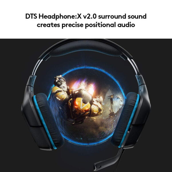 Logitech G431 7.1 Surround Sound Gaming Headset with DTS Headphone (Black)-7024