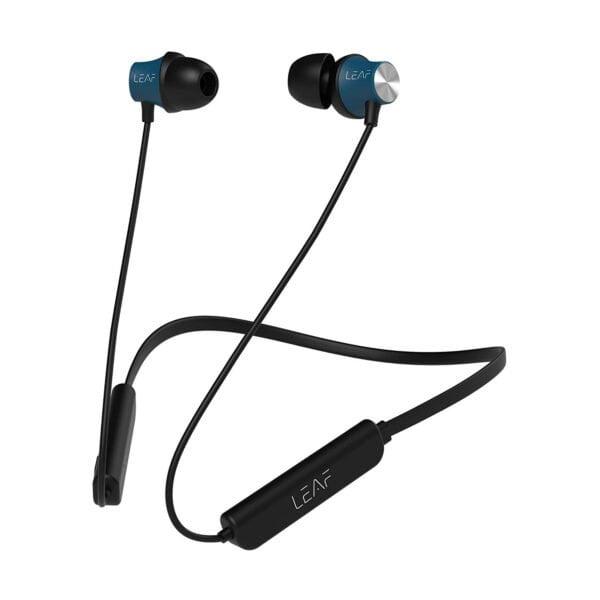 Leaf Collar Wireless Bluetooth Earphones with Mic (Black)-0