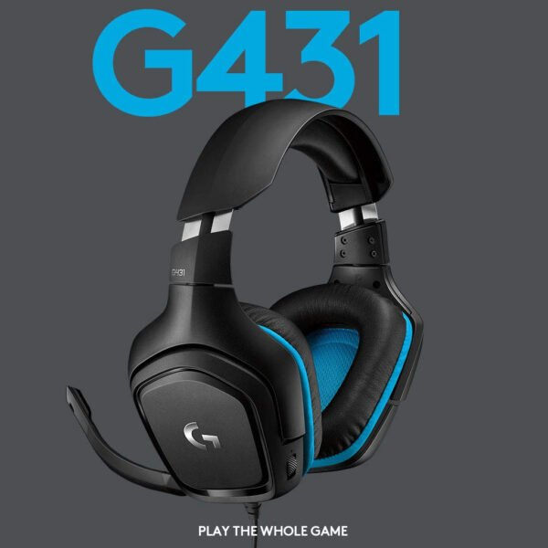 Logitech G431 7.1 Surround Sound Gaming Headset with DTS Headphone (Black)-7026