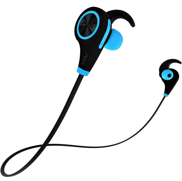 Leaf Ear Wireless Bluetooth Earphones with Mic and Deep Bass (Cool Blue)-0