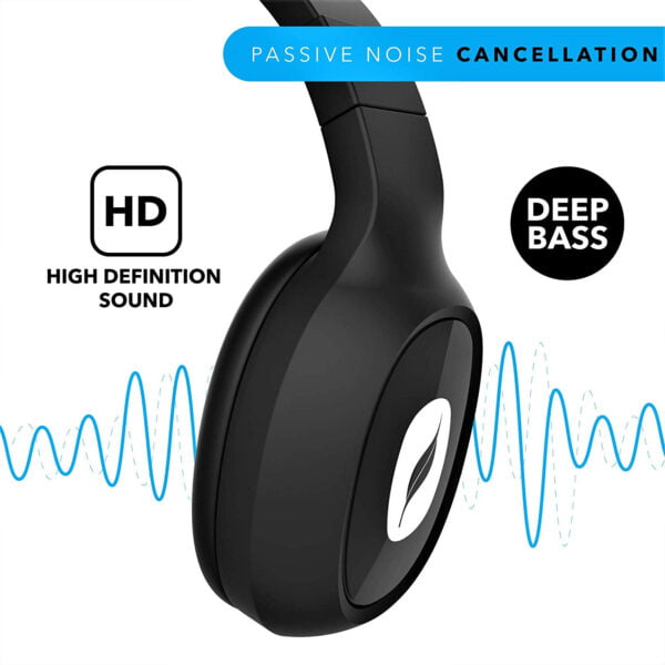 Leaf Bass 2 Wireless Headphones with Mic and 15 Hour Battery Life-7067