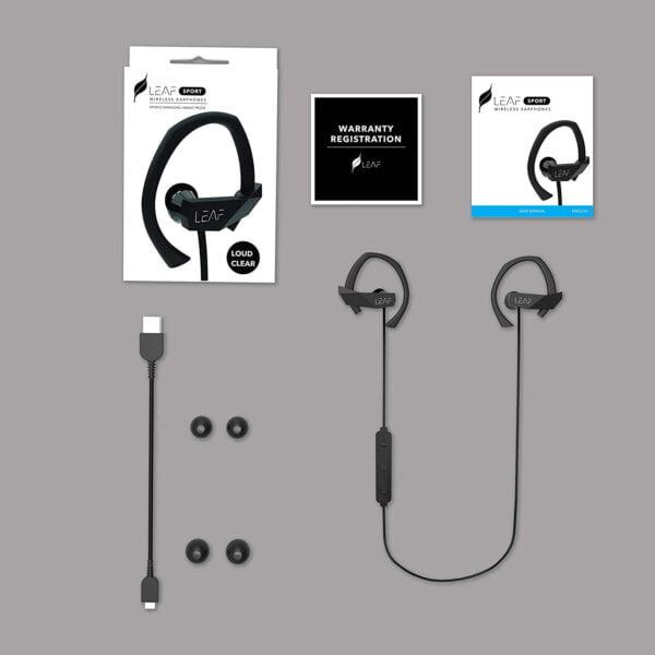 Leaf Sport Wireless Bluetooth Earphone (Black)-7070