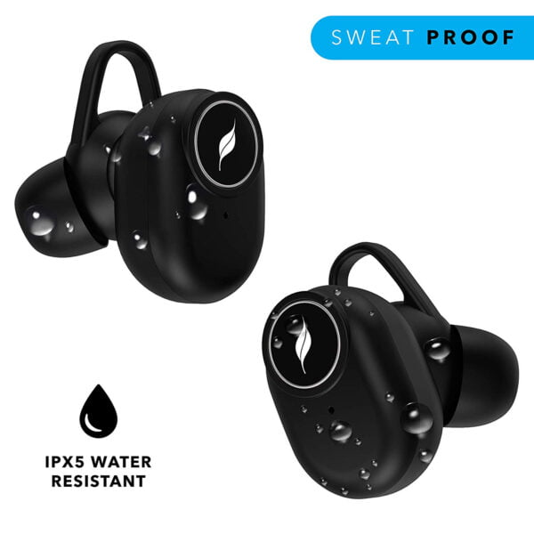 Leaf Pods Truly Wireless Bluetooth 5.0 Earphones (Carbon Black)-7048