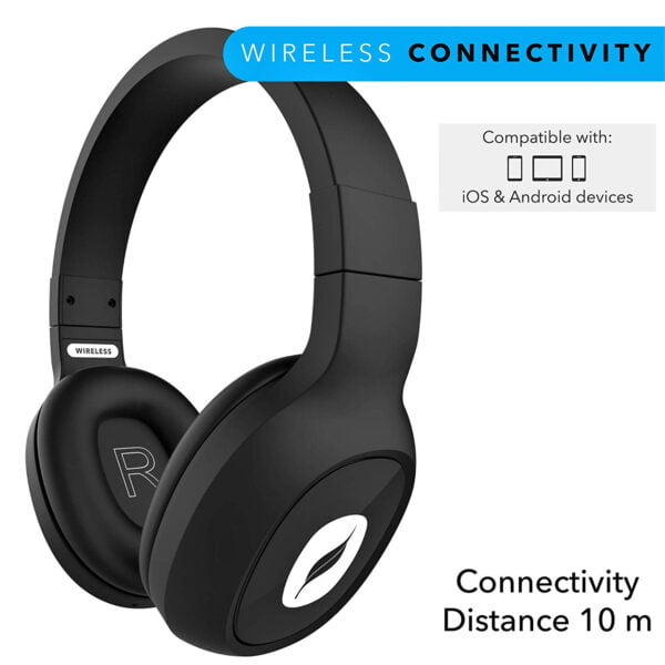 Leaf Bass 2 Wireless Headphones with Mic and 15 Hour Battery Life-7064