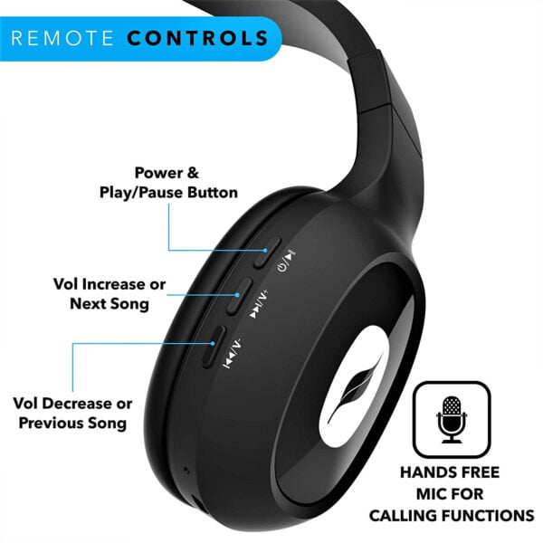Leaf Bass 2 Wireless Headphones with Mic and 15 Hour Battery Life-7066