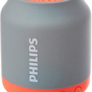 Philips BT50B Portable Wireless Bluetooth Speaker, Grey/Orange-0