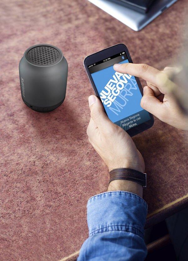 Philips BT50B Portable Wireless Bluetooth Speaker, Black-6989
