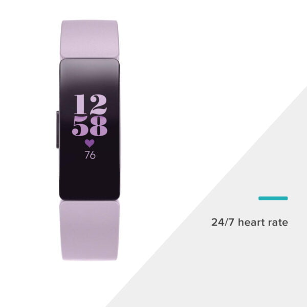 Fitbit Inspire HR Health and Fitness Tracker with Heart Rate (Lilac)-7348