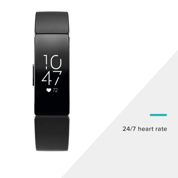 Fitbit Inspire HR Health and Fitness Tracker with Heart Rate (Black)-7395