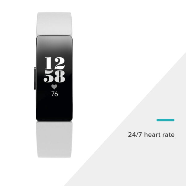 Fitbit Inspire HR Health and Fitness Tracker with Heart Rate (White)-7324
