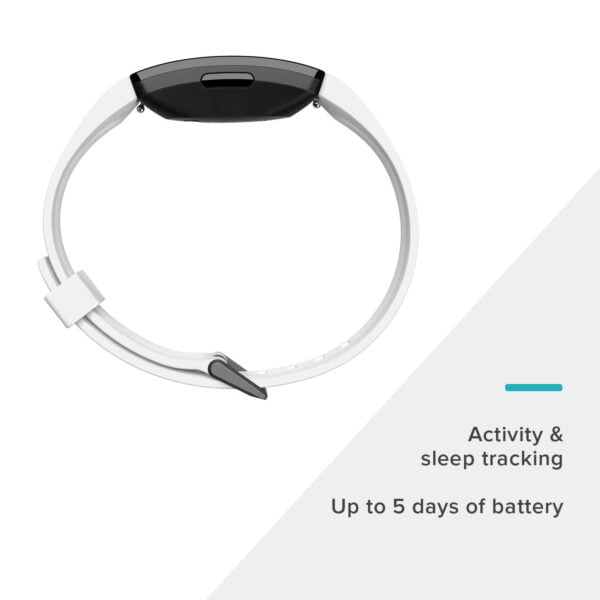 Fitbit Inspire HR Health and Fitness Tracker with Heart Rate (White)-7330