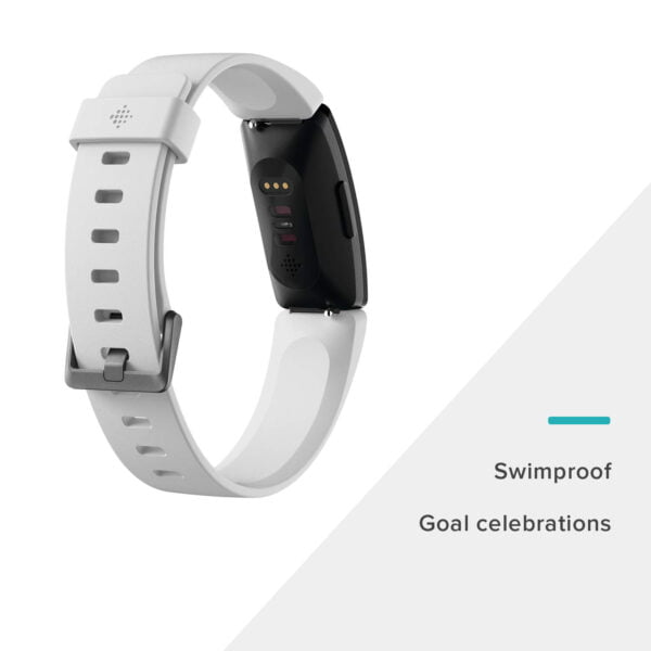 Fitbit Inspire HR Health and Fitness Tracker with Heart Rate (White)-7326
