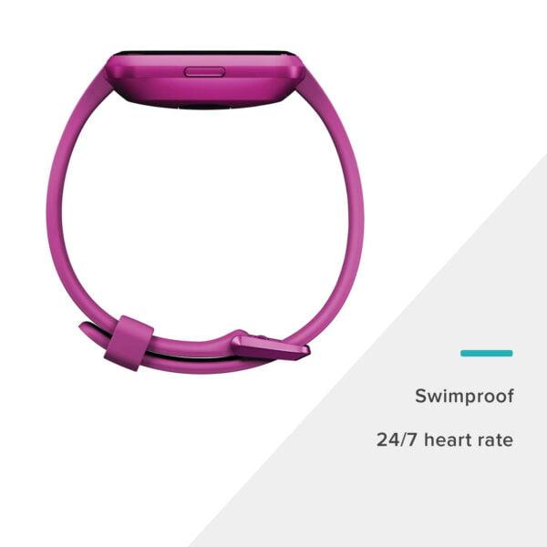 Fitbit Versa Lite Edition Smart Watch (Mulberry)-7267