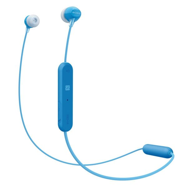 Sony WI-C300 Wireless in-Ear Headphones (Blue)(100% New but Packing Damage)-0