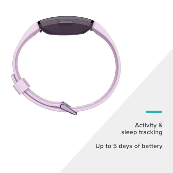 Fitbit Inspire HR Health and Fitness Tracker with Heart Rate (Lilac)-7342