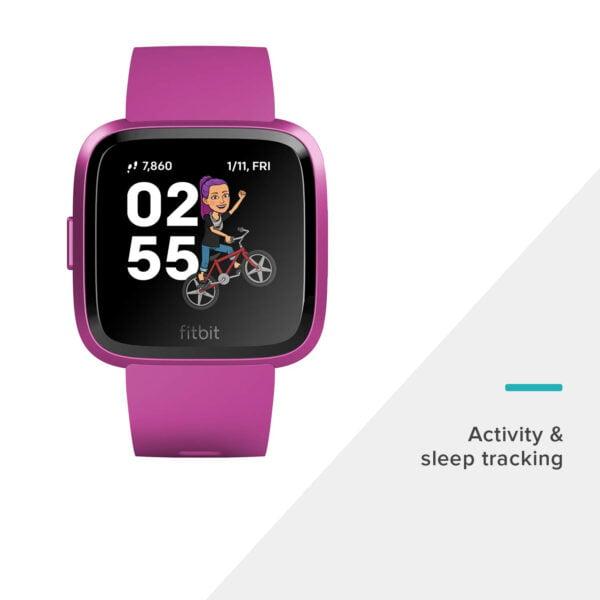 Fitbit Versa Lite Edition Smart Watch (Mulberry)-7268