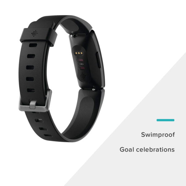 Fitbit Inspire HR Health and Fitness Tracker with Heart Rate (Black)-7396