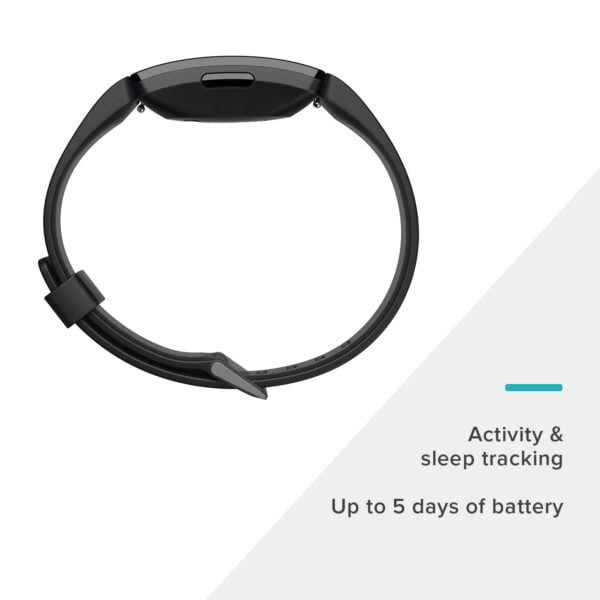 Fitbit Inspire HR Health and Fitness Tracker with Heart Rate (Black)-7397