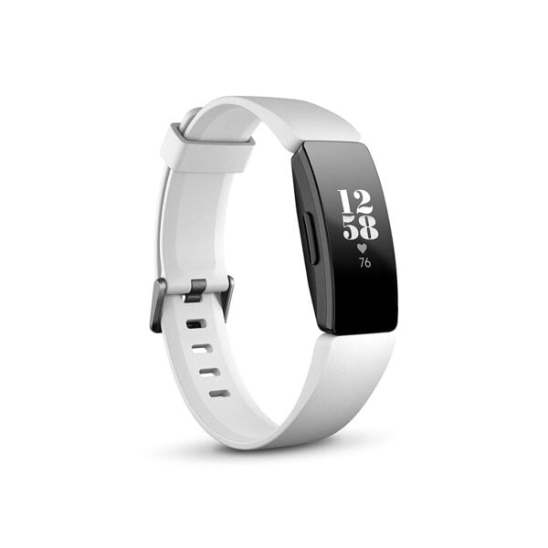 Fitbit Inspire HR Health and Fitness Tracker with Heart Rate (White)-0