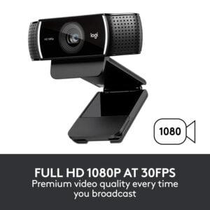 Logitech Webcam C922 Pro Stream 1920x1080, 960-001088 (1920x1080)-0