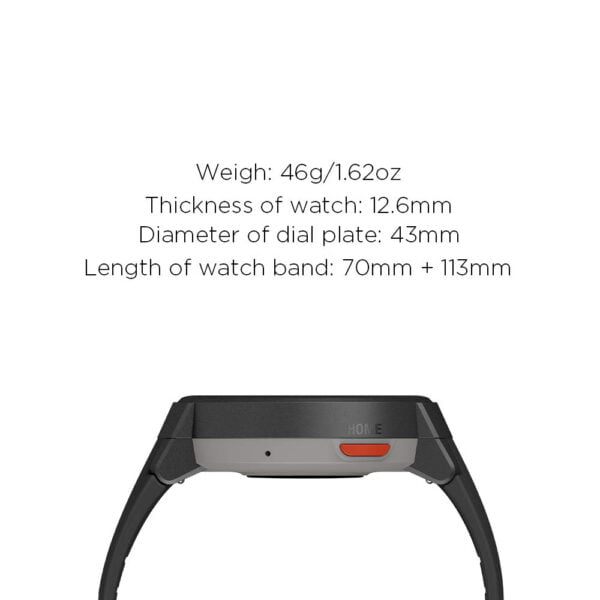 Amazfit Verge IP68 Phone Call Smart Watch (Gray)(Packing Damage Only)-7615