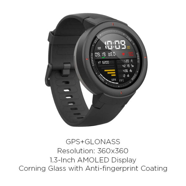 Amazfit Verge IP68 Phone Call Smart Watch (Gray)(Packing Damage Only)-7621