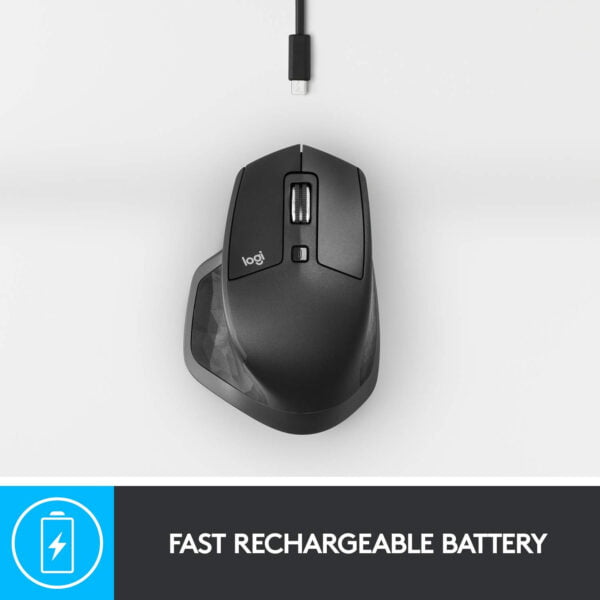 Logitech MX Master 2S Wireless Mouse with FLOW Cross-Computer Control and File Sharing for PC and Mac (910-005131)-7694