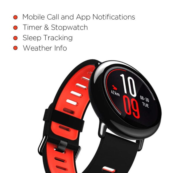Amazfit Pace A1612 Multisport Smartwatch (Black) (Packing Damage Only)-7609