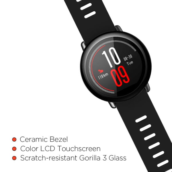 Amazfit Pace A1612 Multisport Smartwatch (Black) (Packing Damage Only)-7610