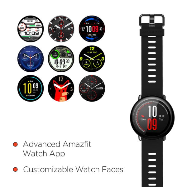Amazfit Pace A1612 Multisport Smartwatch (Black) (Packing Damage Only)-7612