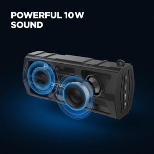 Powerful 10 watt sound