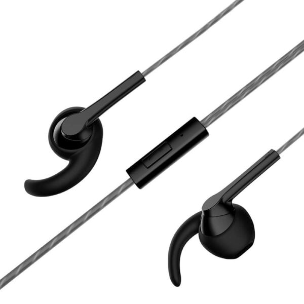 Motorola Pace 130 Single Row Wired Earphones with Mic and Ear Hooks (Black)-8219