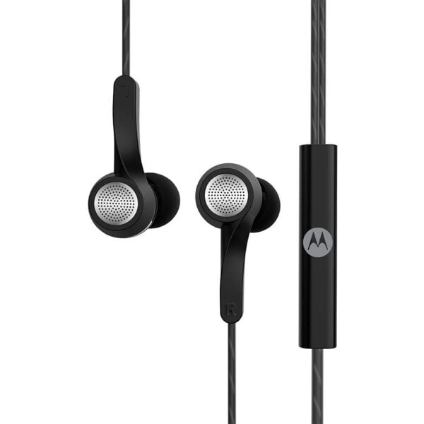 Motorola Pace 120 Single Row Wired Earphones with Mic and Volume Control (Black)-8218