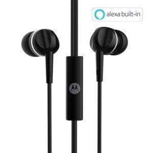 Motorola Pace 100 in-Ear Headphones with Mic (Black)-0