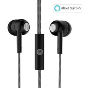 Motorola Pace 110 in-Ear Headphones with Mic (Black)-0