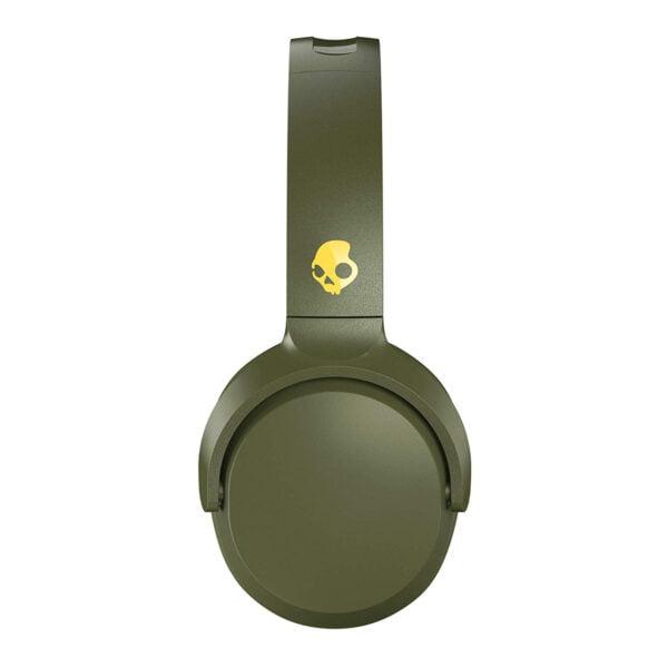 Skullcandy Riff S5PXW-M687 Wireless On-Ear Headphone (Moss/Olive/Yellow)-8157