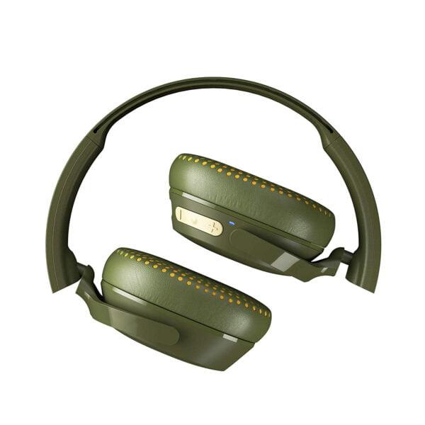 Skullcandy Riff S5PXW-M687 Wireless On-Ear Headphone (Moss/Olive/Yellow)-8155