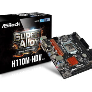 ASRock H110M-HDV R3.0 7th Gen BIOS Updated Motherboard (VGA+DVI+HDMI Port)-0