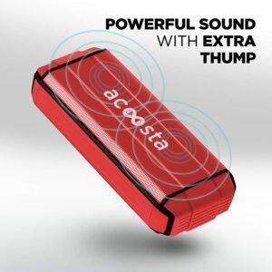 ACOOSTA BOLD 370 Portable Wireless Bluetooth Speaker (Scarlet Red)-0