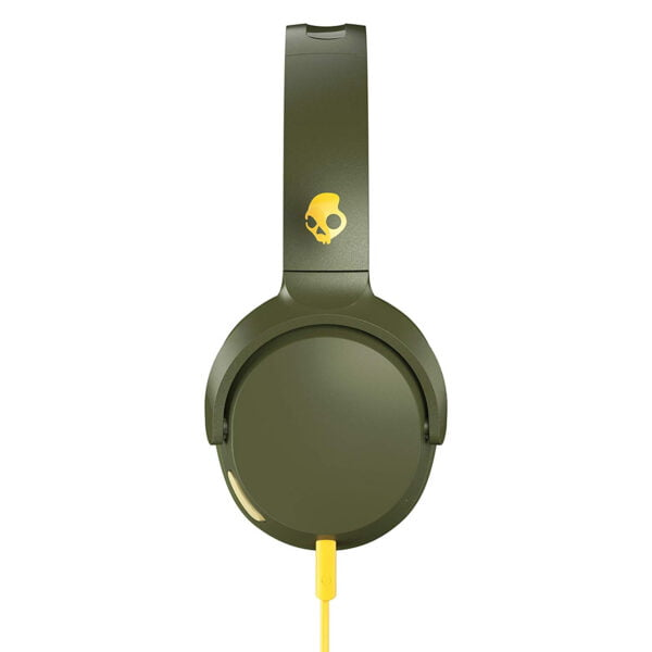 Skullcandy Riff S5PXY-M687 On-Ear Headphone with Mic (Moss/Olive/Yellow)-8172