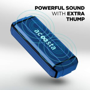 ACOOSTA BOLD 370 Portable Wireless Bluetooth Speaker (Deep Blue)-0