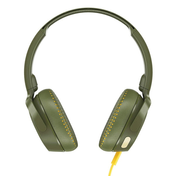 Skullcandy Riff S5PXY-M687 On-Ear Headphone with Mic (Moss/Olive/Yellow)-8175