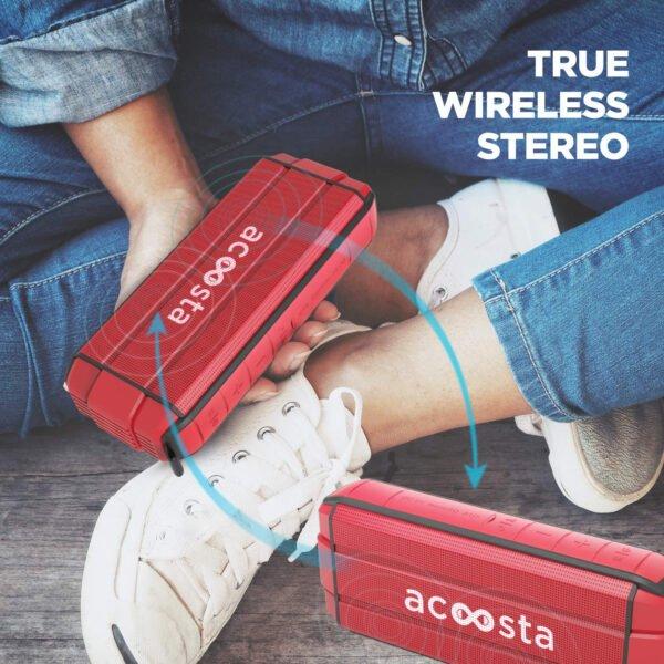 ACOOSTA BOLD 370 Portable Wireless Bluetooth Speaker (Scarlet Red)-8010