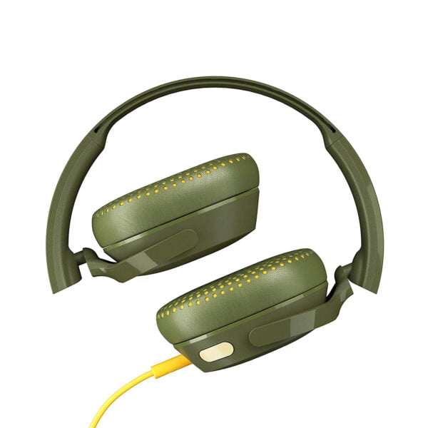 Skullcandy Riff S5PXY-M687 On-Ear Headphone with Mic (Moss/Olive/Yellow)-8176