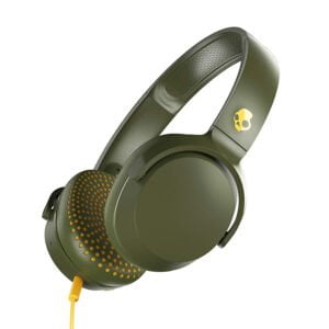 Skullcandy Riff S5PXY-M687 On-Ear Headphone with Mic (Moss/Olive/Yellow)-0